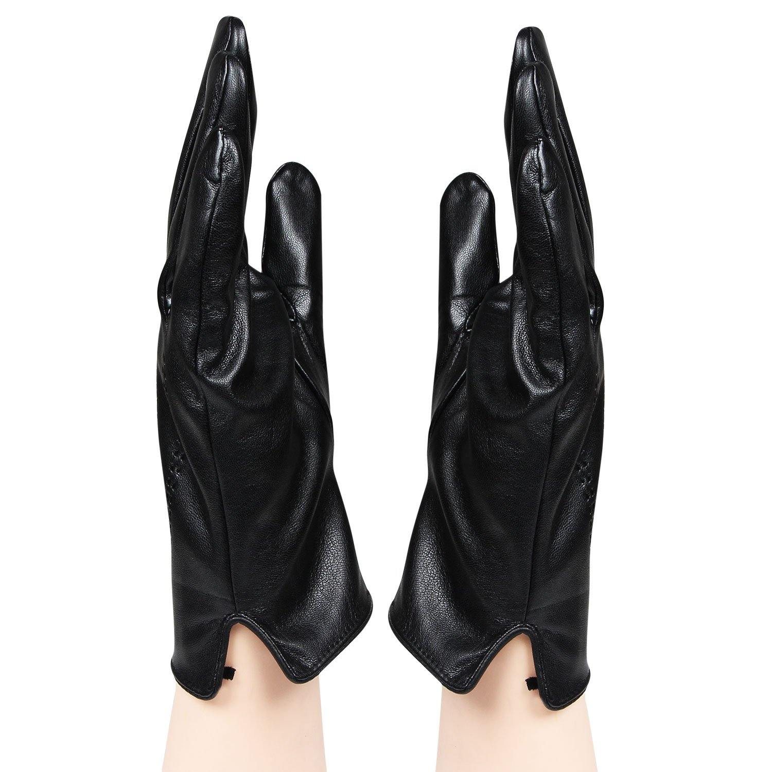 Men's designer Gloves Black