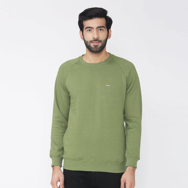 Men's Plain Winter Wear Sweatshirt - Cedar Green
