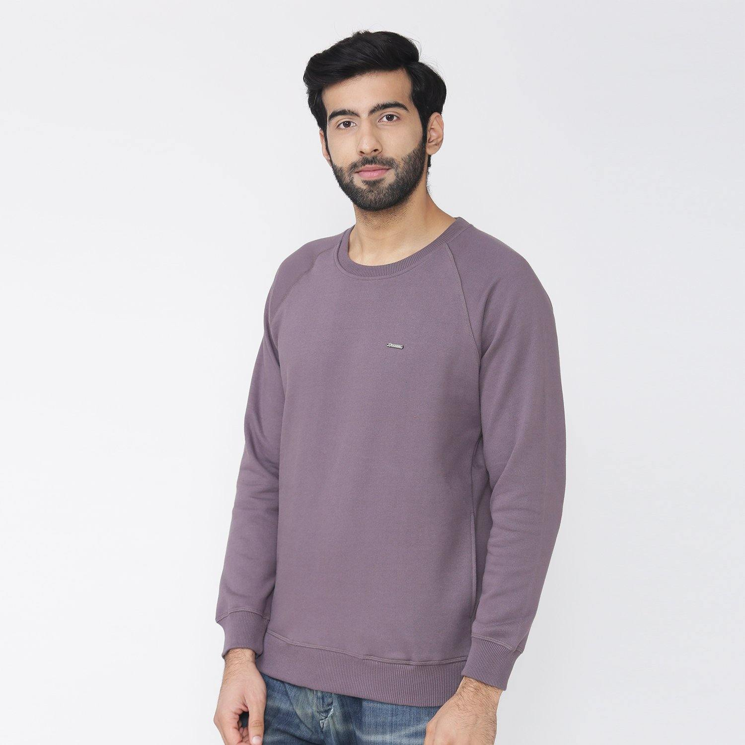 Men's Plain Winter Wear Sweatshirt - Rabbit