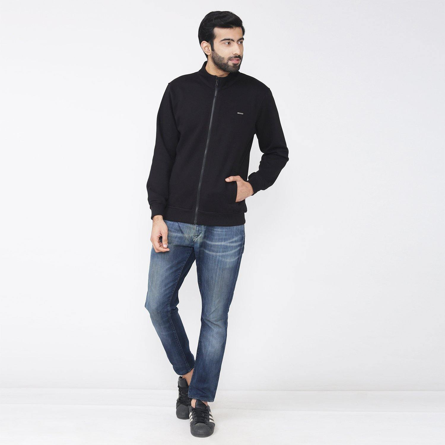 Men's Plain Full Sleeve Plain Jacket - Bonjour Group