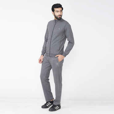 Men's Winter wear Solid Track Suit - Anthra