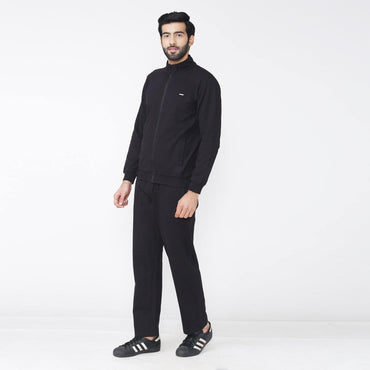 Men's Winter wear Solid Track Suit - Classic Black