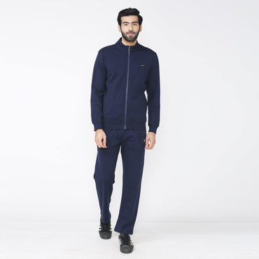 Men's Winter wear Solid Track Suit - Navy