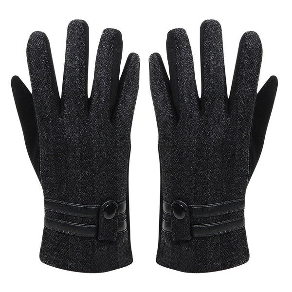 Classic  Designer Winter Gloves for Men - Black