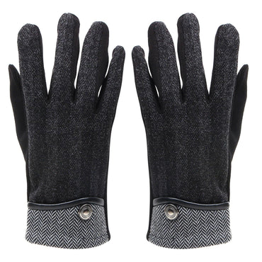 Designer Gloves for Men - Black