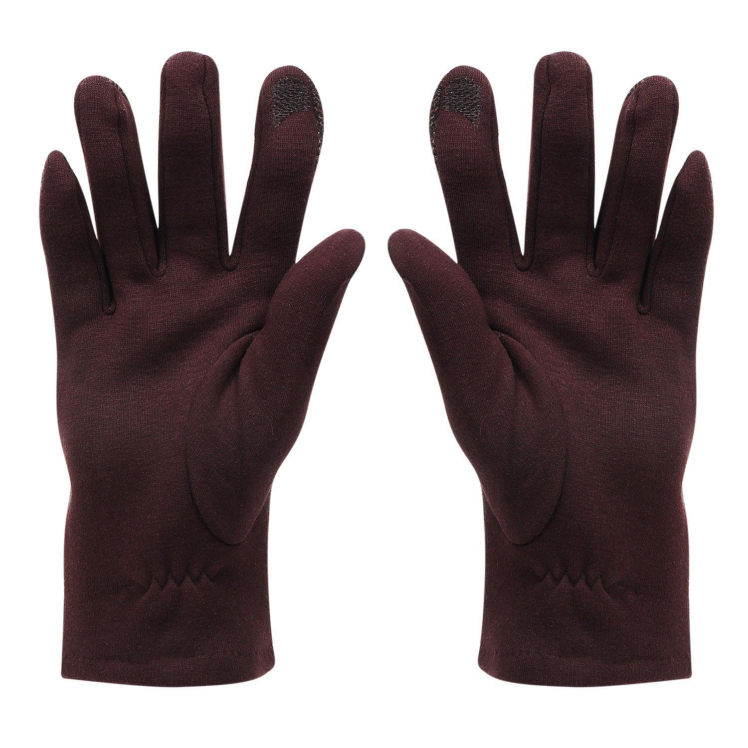 Designer Winter Gloves For Men - Brown