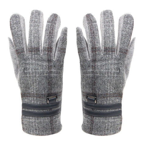 Designer Winter Gloves For Men - Light  Grey
