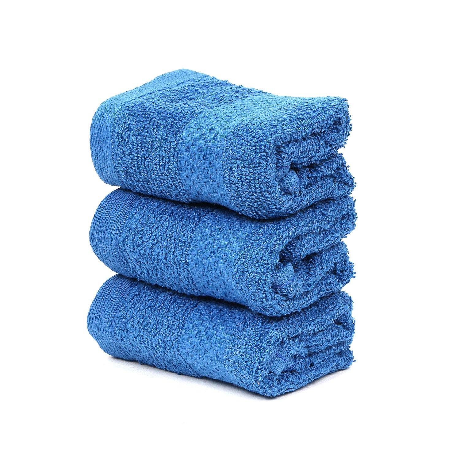 BLUE FACE TOWEL SET-PACK OF 3