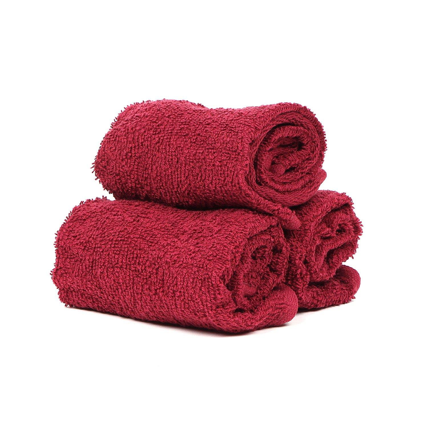 MAROON FACE TOWEL SET-PACK OF 3