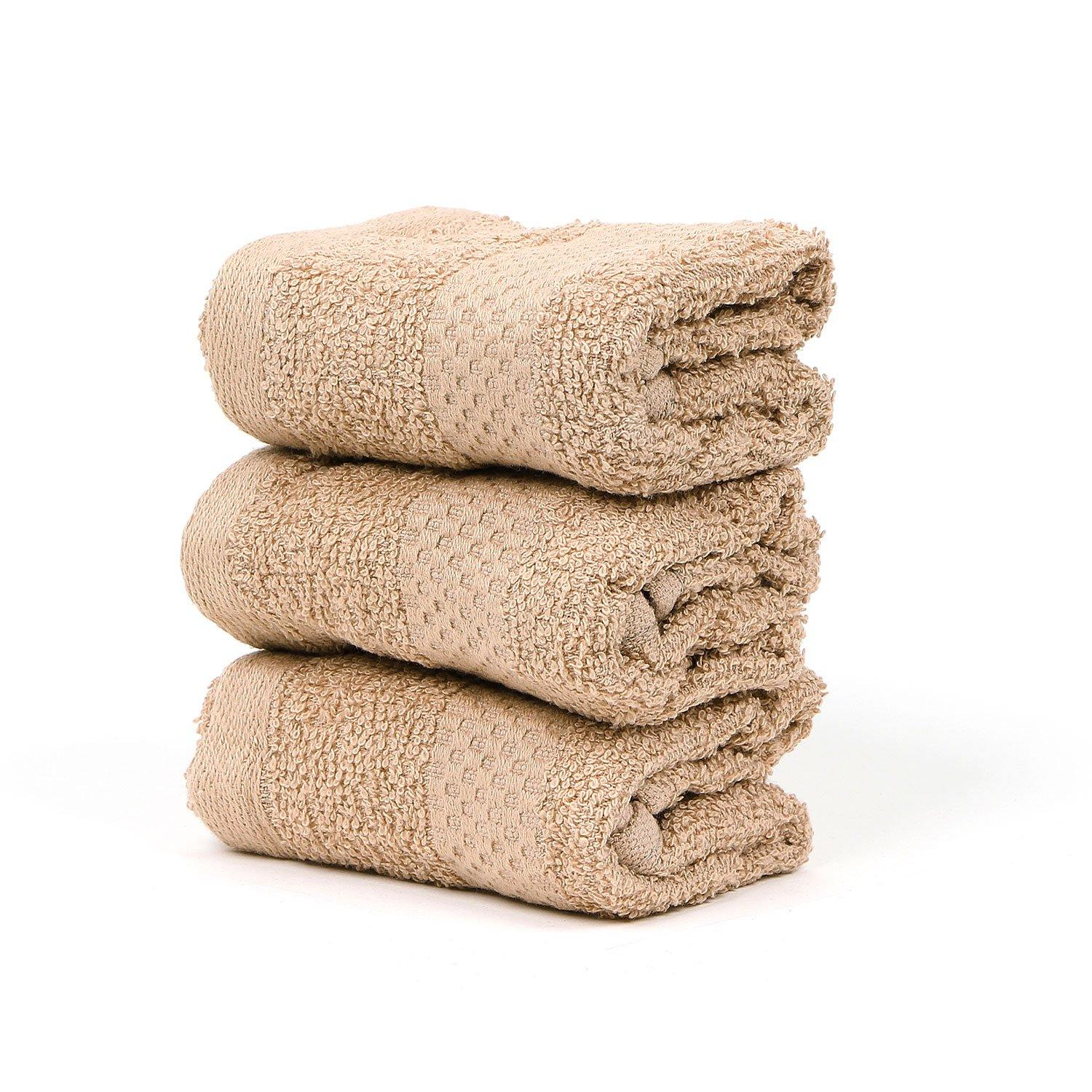 BROWN FACE TOWEL SET -PACK OF 3