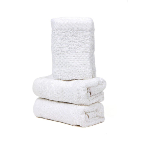 WHITE FACE TOWEL SET-PACK OF 3