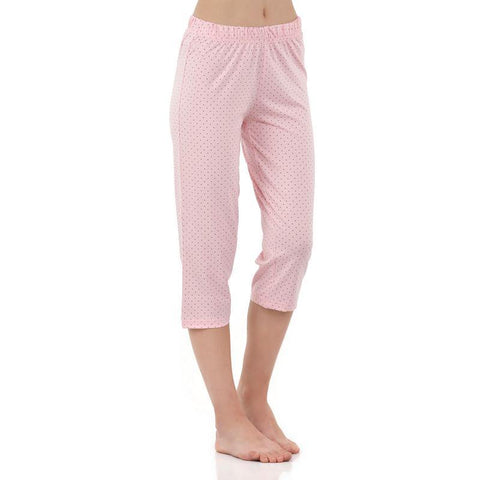Women's Printed Knit Capri