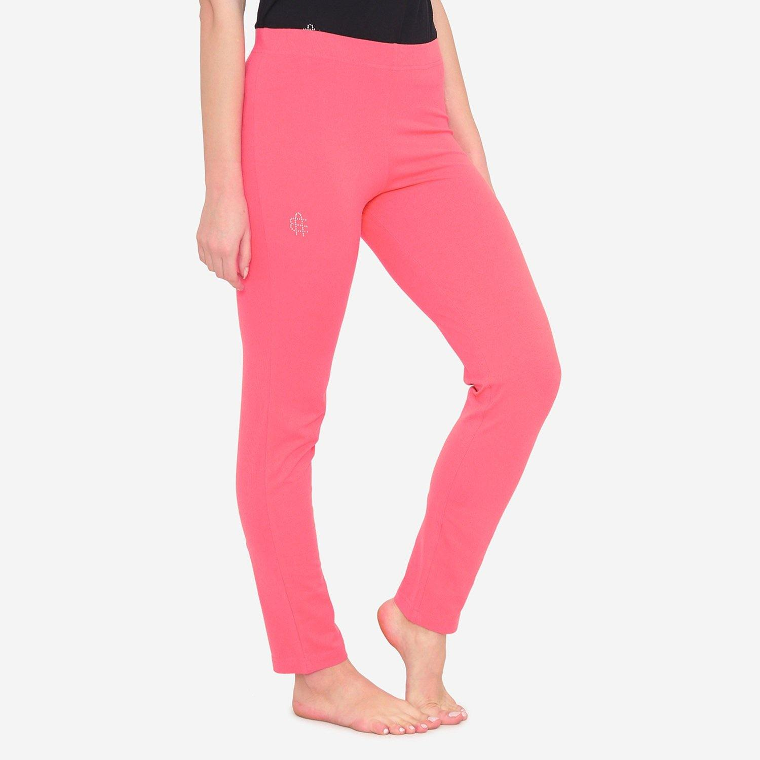 Women's Comfy Classy Plain Lower For Summer - Coral