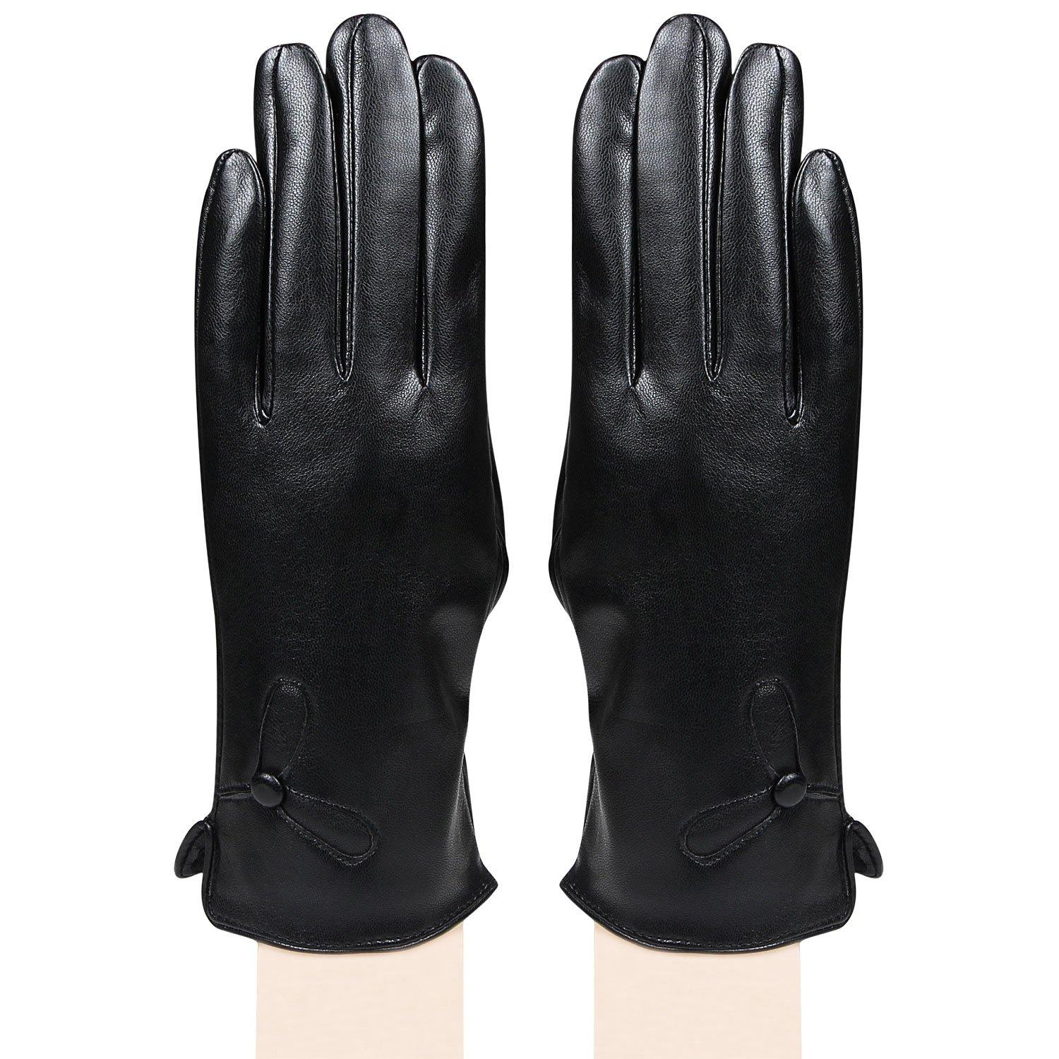 Women's designer Gloves-Black - Bonjour Group