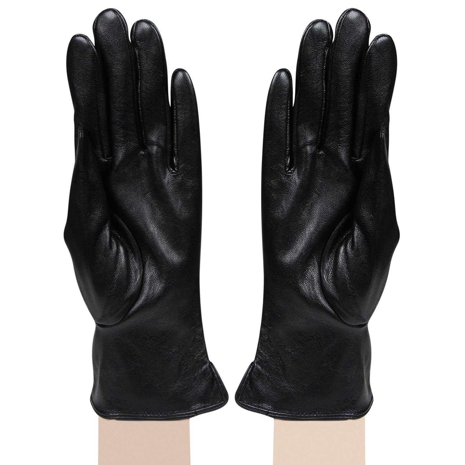 Womens designer Gloves - Black