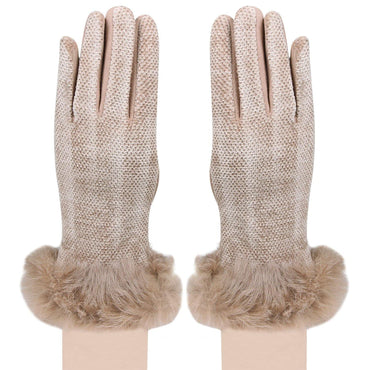 Women's designer Gloves - Coffee
