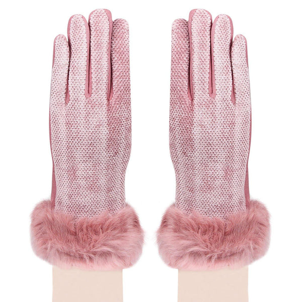 Women's Designer Gloves - Pink