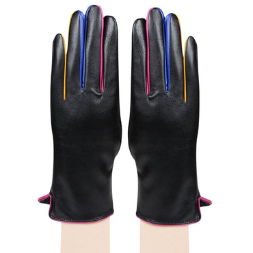 Women's Designer Gloves - Black