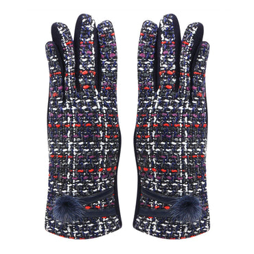 Designer Winter Gloves For Women - Black/Red