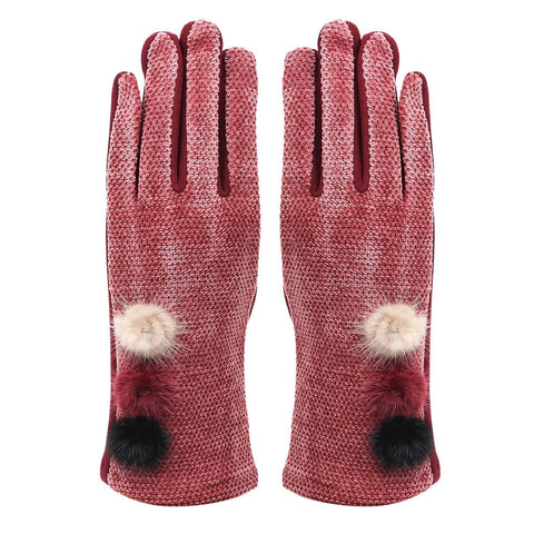 Fashionable Winter Gloves For Women - Beetroot