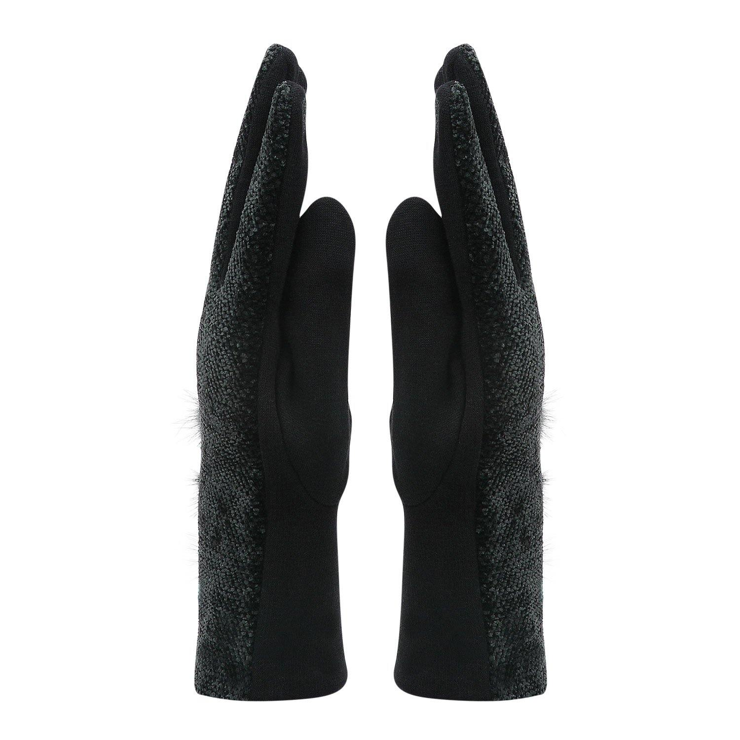Fashionable Winter Gloves For Women - Black