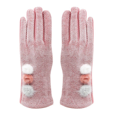Fashionable Winter Gloves For Women - Dull Pink