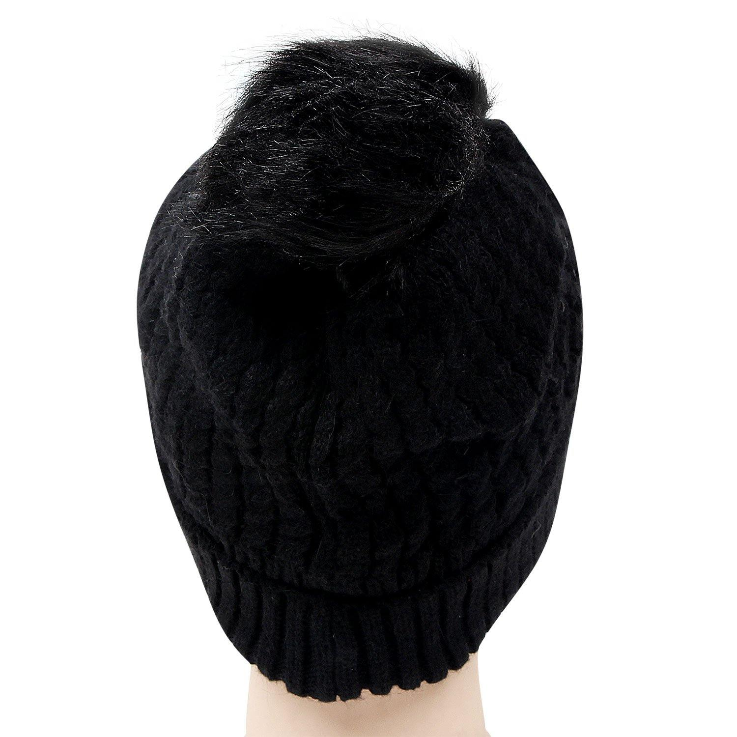 Woolen Cap with Pom Pom For Women - Bonjour Group