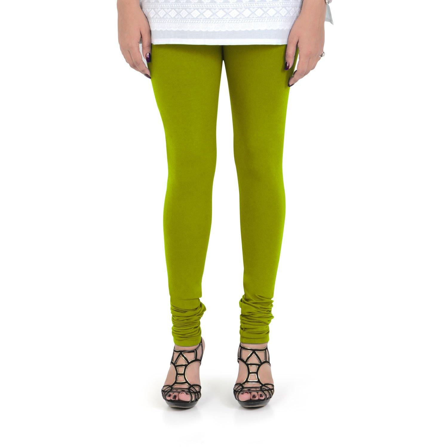 Vami Women's Cotton Stretchable Churidar Legging - Goose Berry