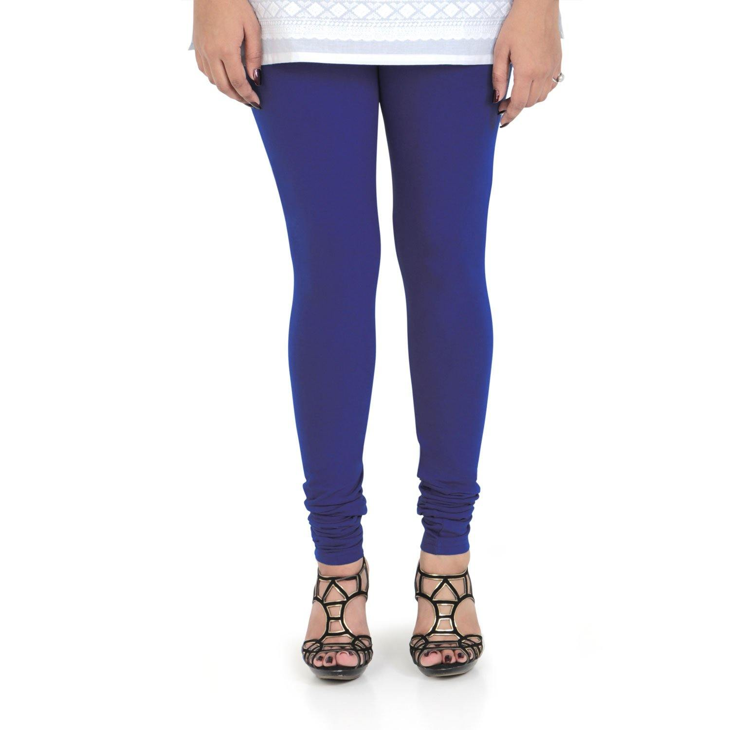 Vami Women's Cotton Stretchable Churidar Legging - Purple Heart