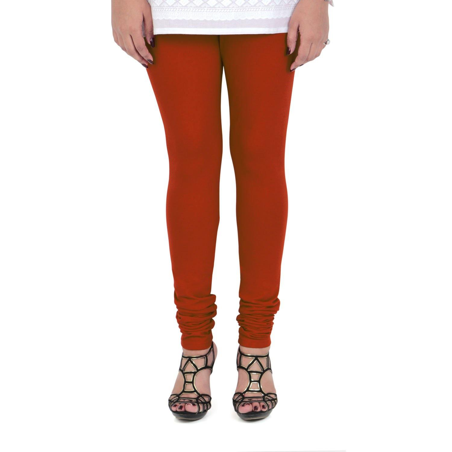 Vami Women's Cotton Stretchable Churidar Legging - Scarlet Red