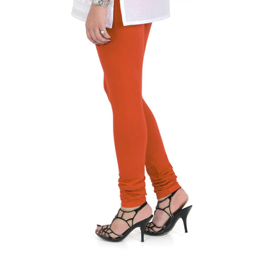 Vami Women's Cotton Stretchable Churidar Legging - Flame