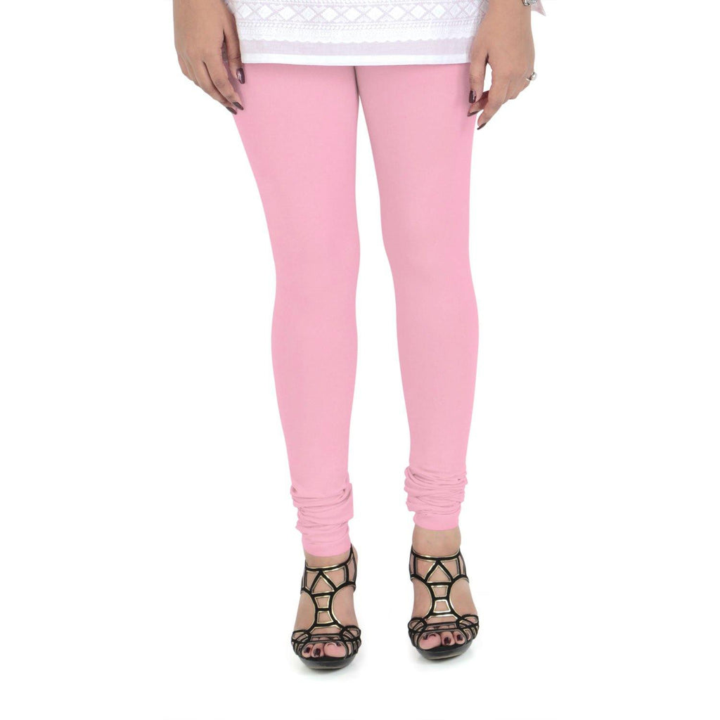 Vami Women's Cotton Stretchable Churidar Legging - Royal Pink