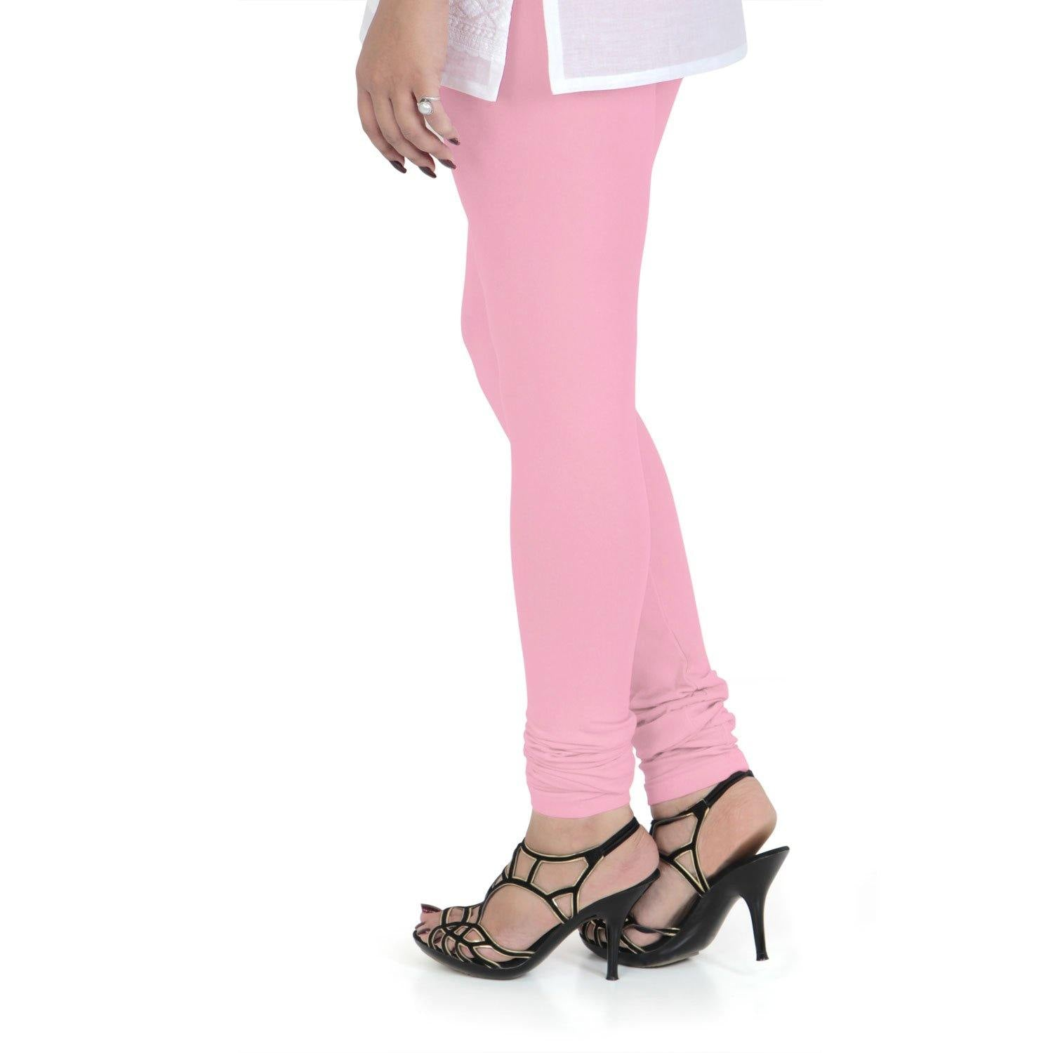 Vami Women's Cotton Stretchable Churidar Legging - Royal Pink - Bonjour Group