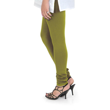 Vami Women's Cotton Stretchable Churidar Legging - Grass Hopper