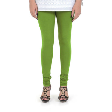 Vami Women's Cotton Stretchable Churidar Legging - Turtle Green