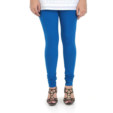 Vami Women's Cotton Stretchable Churidar Legging - Victoria Blue