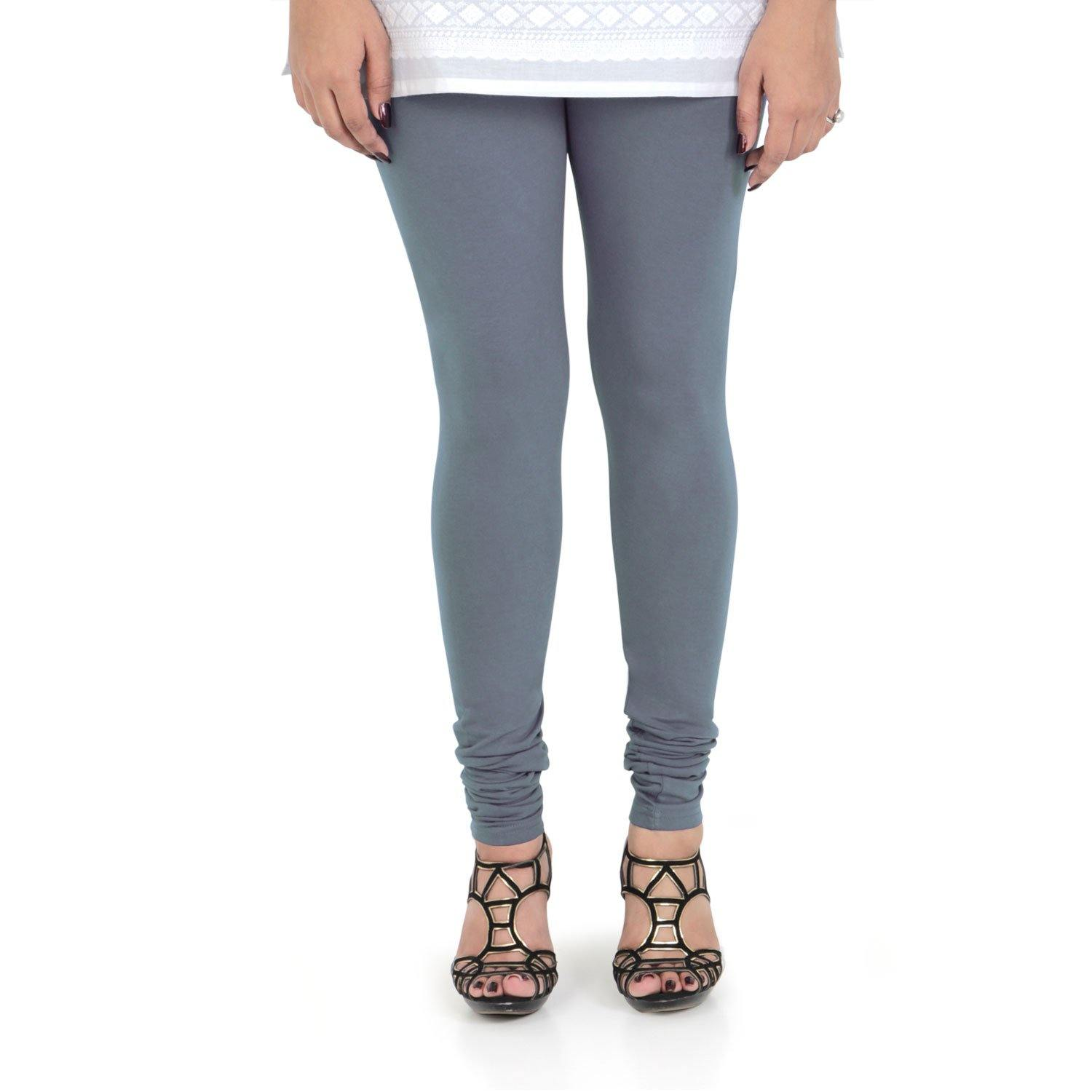 Vami Women's Cotton Stretchable Churidar Legging - Wild Dove