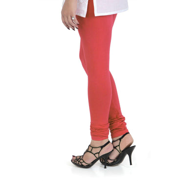 Vami Women's Cotton Stretchable Churidar Legging - Rose