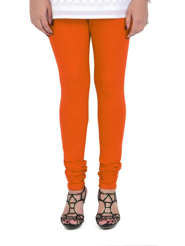 Vami Women's Cotton Stretchable Churidar Legging - Fire