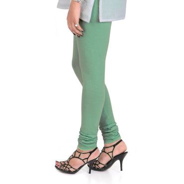 Vami Women's Cotton Stretchable Churidar Legging - Jolly Green
