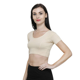 Vami Cotton Stitched Blouse-Perfect Skin