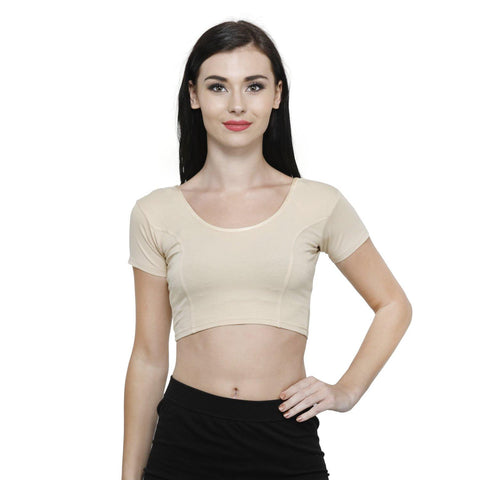 Vami Women's Cotton Stretchable Readymade Blouses - Perfect Skin