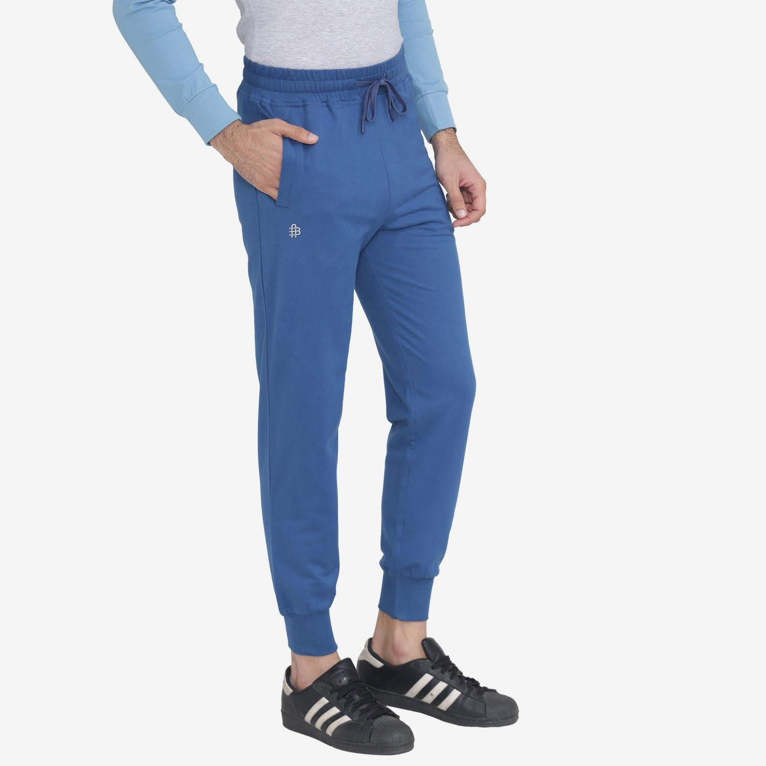 Men's Stretchable Casual Joggers Pants For Winter - Dark Blue