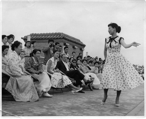 Nora Noh held South Korea's first-ever fashion show at Bando Hotel in Seoul in 1956