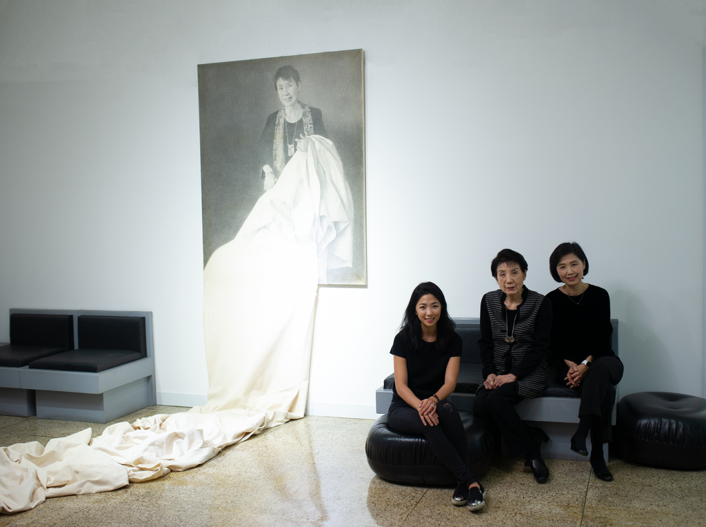 Nora Noh with Kumra Chung and Jean Pak at the Atelier Showroom in Seoul