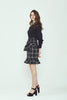 Camille Plaid Flirty Hem Dress