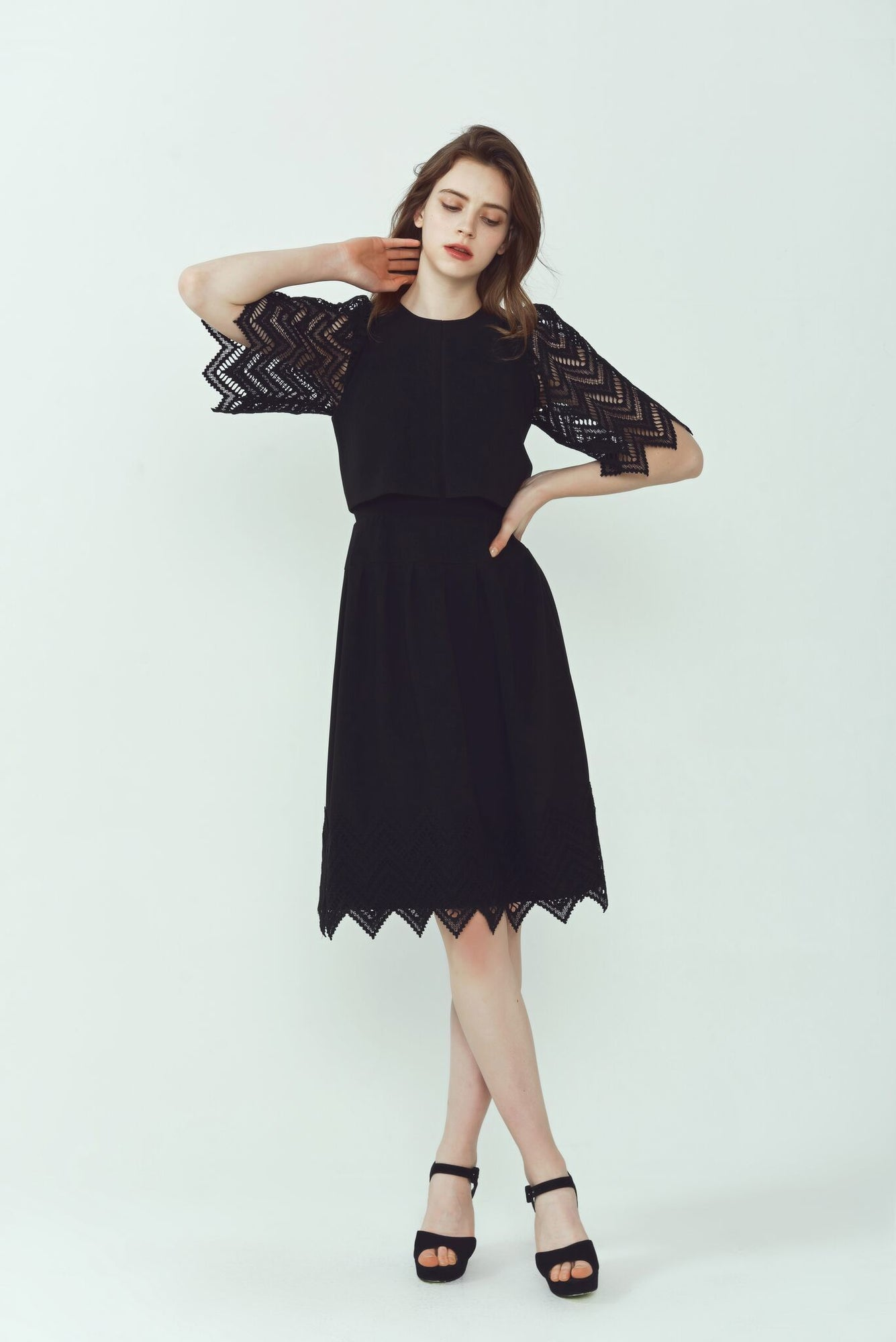 Kate Zig-Zag Lace Dress
