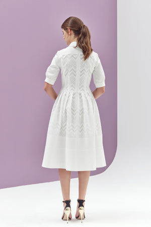 Charlotte Zig Zag Collared Dress