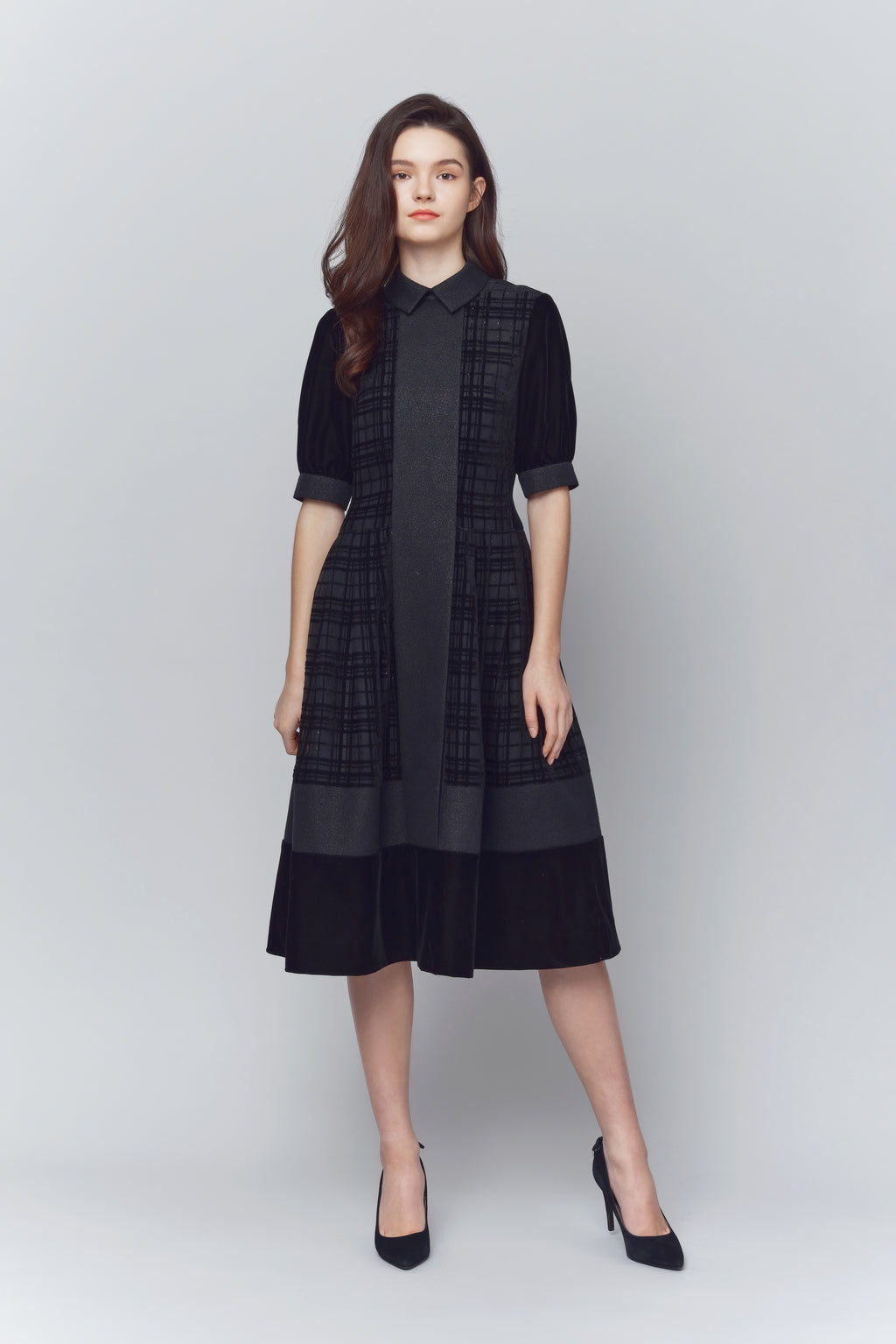 Esther Velvet Collared Dress