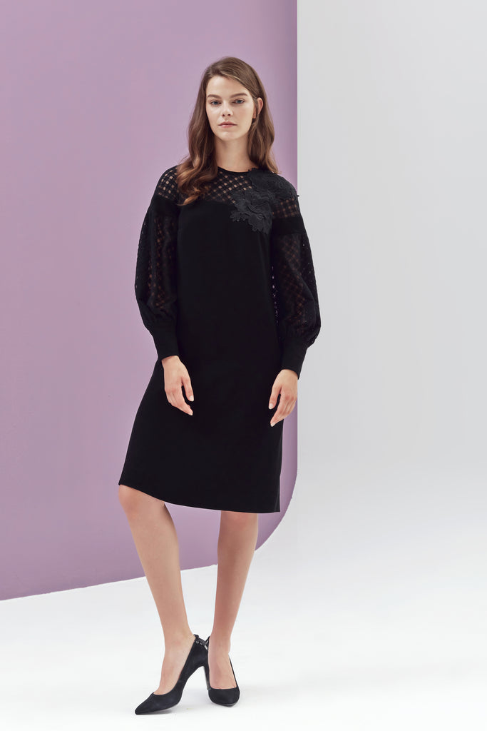 Aidy Lace Sleeved Dress